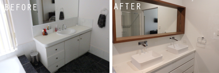 before and after-ensuite