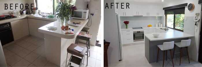 before and after- kitchen