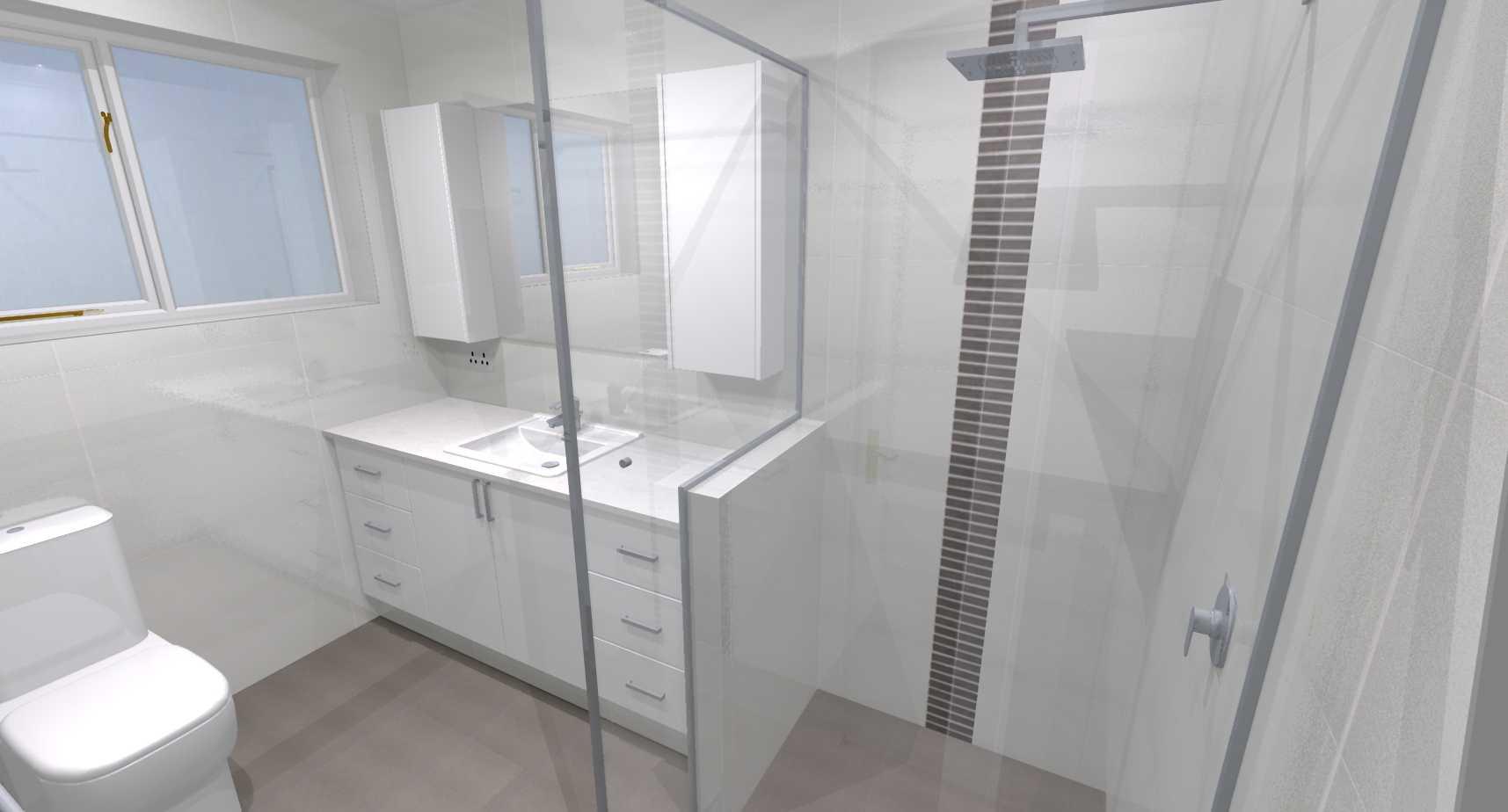Debbie brendan l ensuite bathroom renovations perth for Bathroom renovations 3d