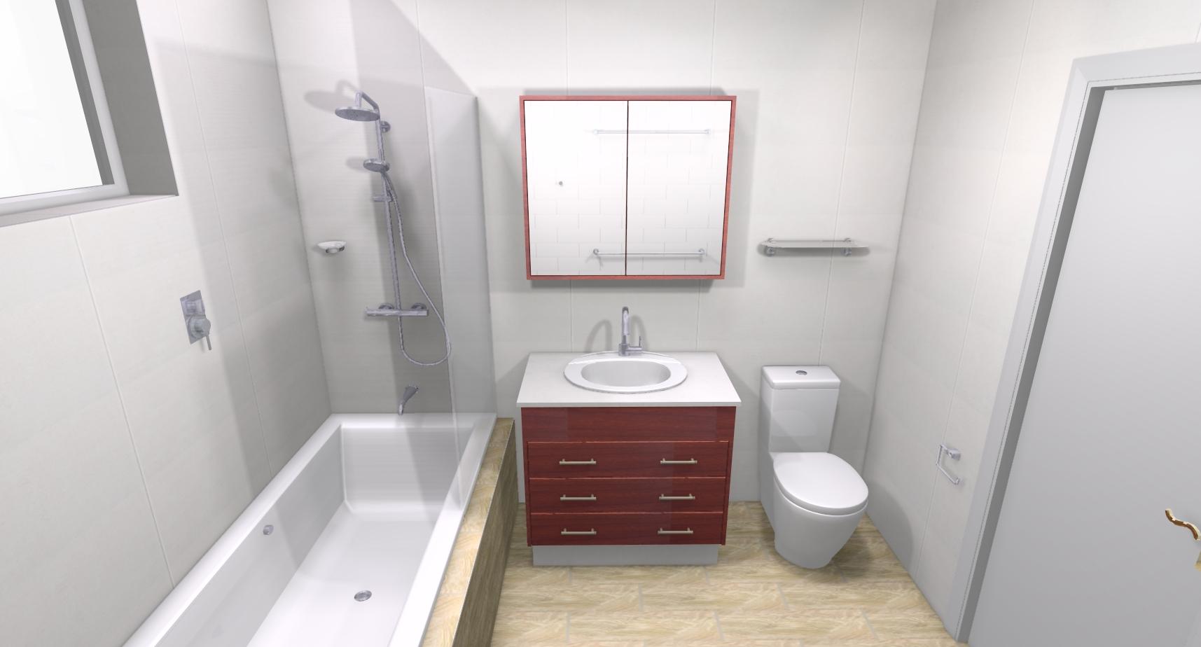 Paul k bathroom bathroom renovations perth for Bathroom renovations 3d
