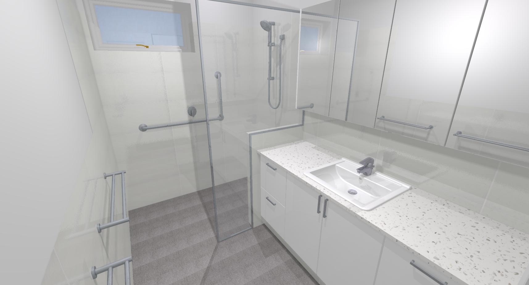 Keith h bathroom bathroom renovations perth for Bathroom renovations 3d