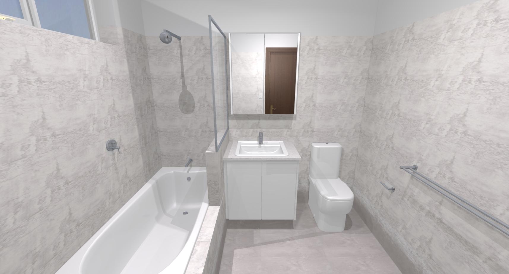 Sandra j bathroom bathroom renovations perth for Bathroom renovations 3d