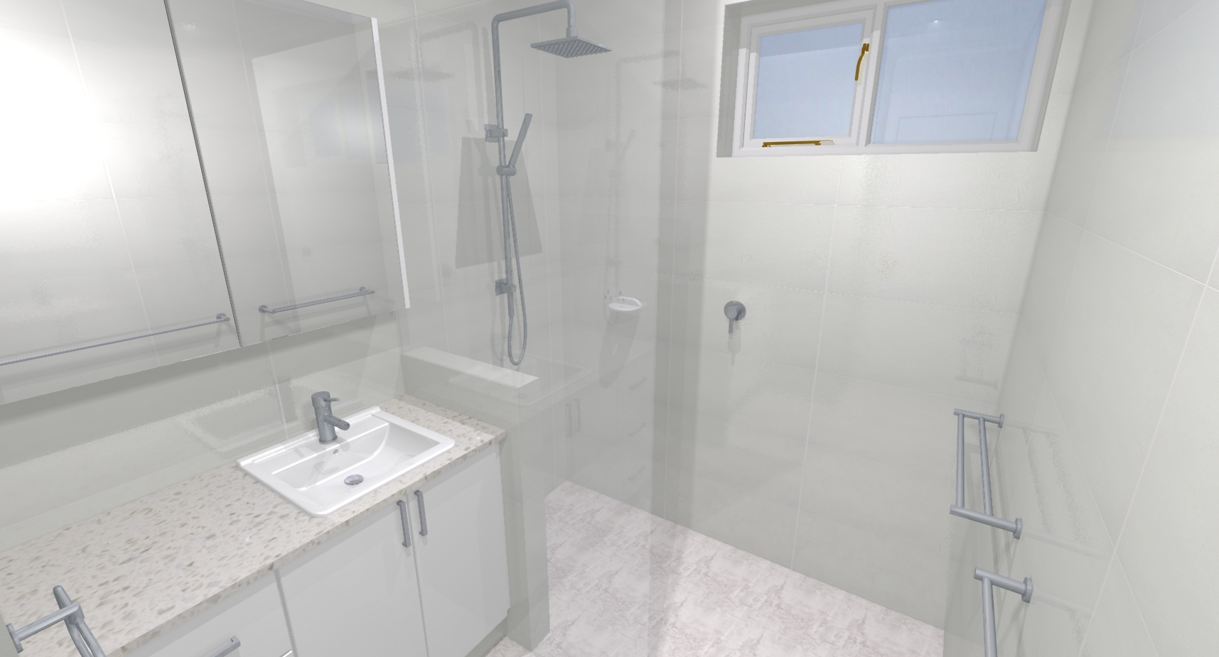 Wesley barbara c bathroom bathroom renovations perth for Bathroom renovations 3d