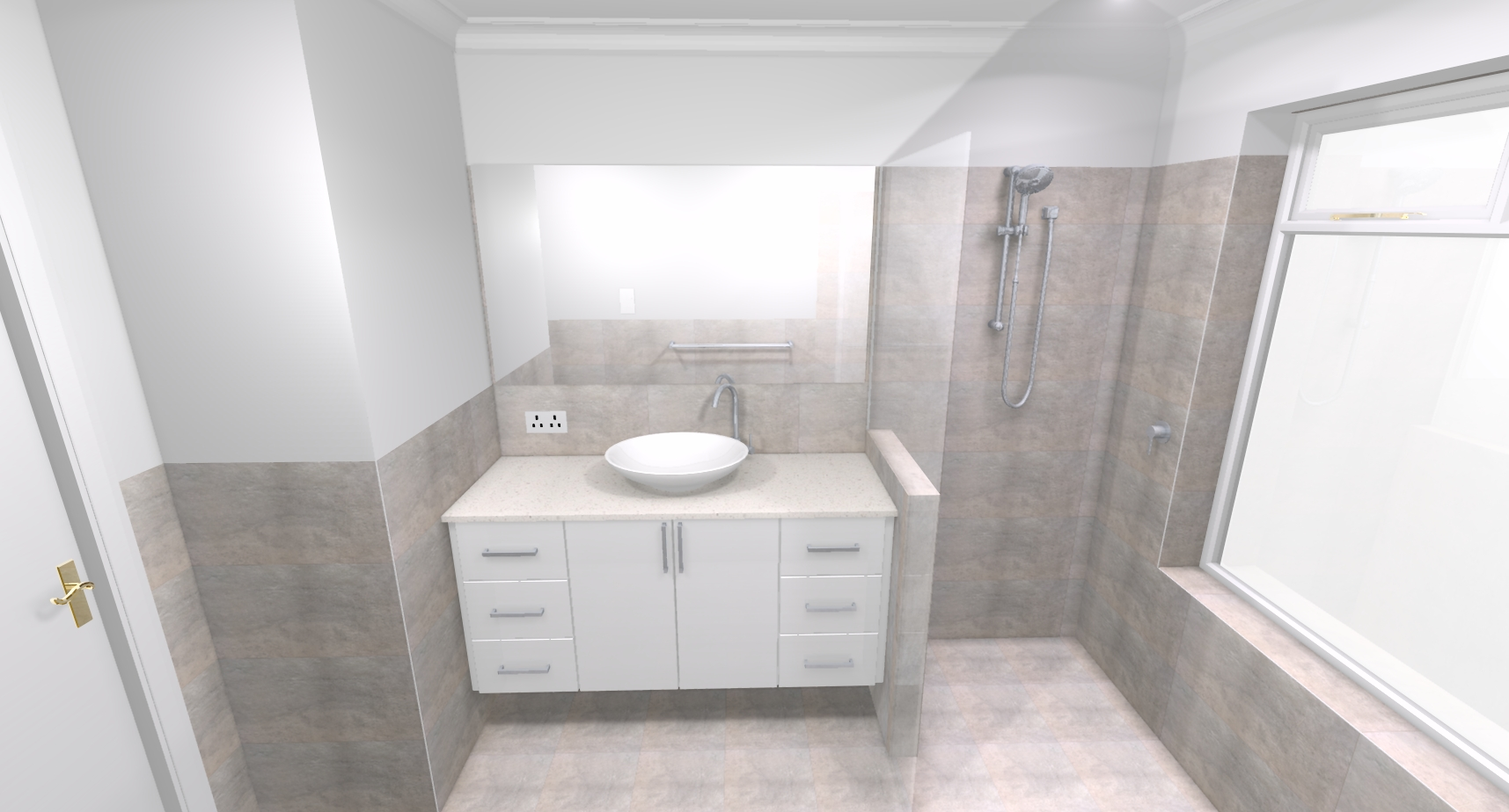 Alison s bathroom bathroom renovations perth for Bathroom renovations 3d